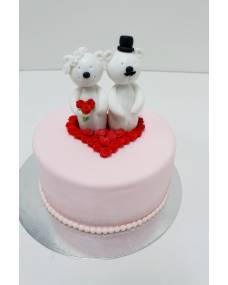 Свадебный торт Мишки женятся