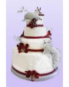 Свадебный торт Белые птицы