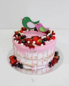 Свадебный торт Птички-ягодки