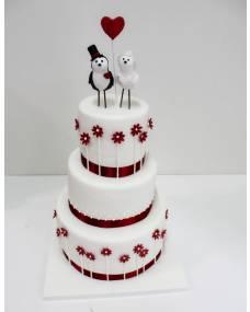 Свадебный торт Птички-цветочки