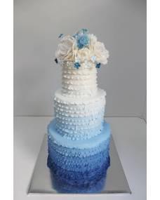 Свадебный торт Синий амбре
