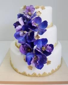 Свадебный торт Синяя орхидея