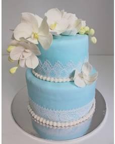 Свадебный торт Цвет Тиффани