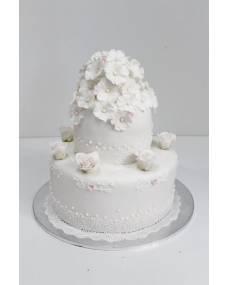 Свадебный торт Цветы счастья