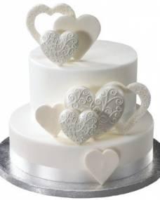 Свадебный торт Полет сердец