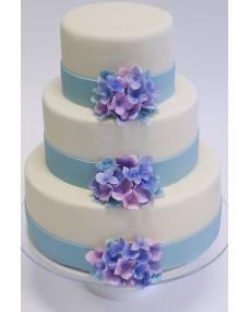 Свадебный торт Нежная гортензия