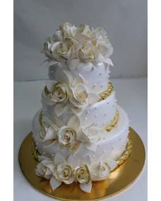 Свадебный торт Золотые розы