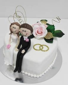 Свадебный торт Сердце на двоих
