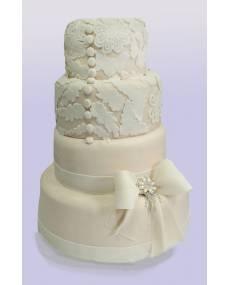 Свадебный торт Кружева