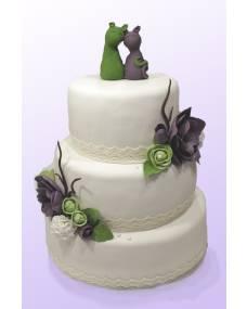 Свадебный торт Лямур-мур-мур