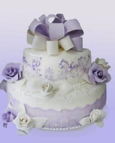 Свадебный торт Сиреневое чудо