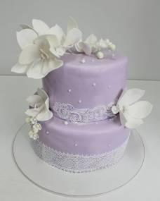 Свадебный торт Сиреневый ажур