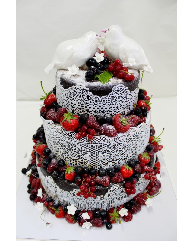 №3313 Торт с фруктами и ягодами купить по выгодной цене с