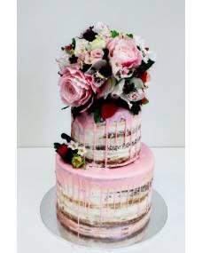 Свадебные ярусные торты без мастики
