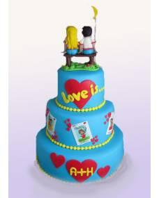 Свадебный торт Любовь это...
