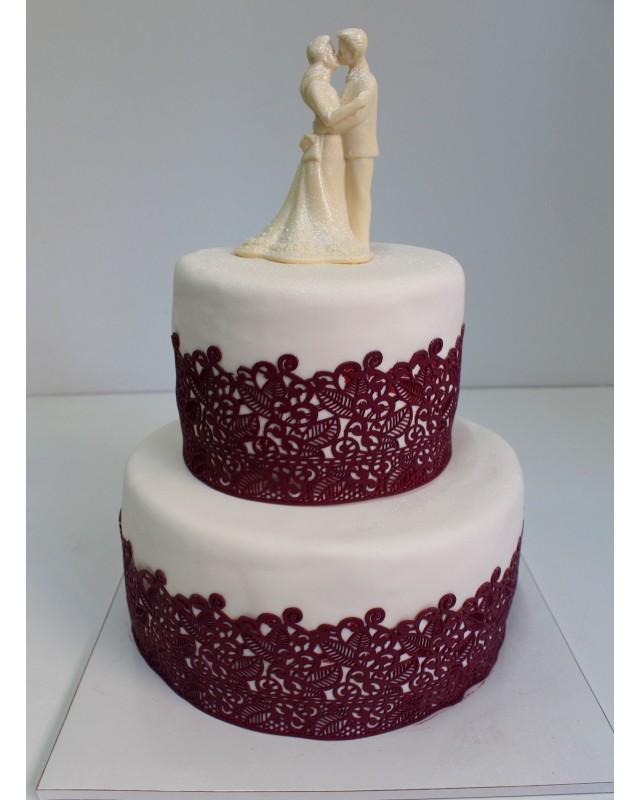 2 ярусный свадебный торт