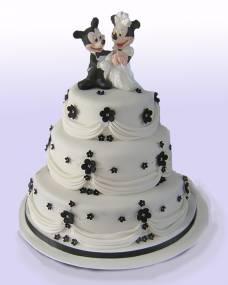 Свадебный торт Микки и Минни