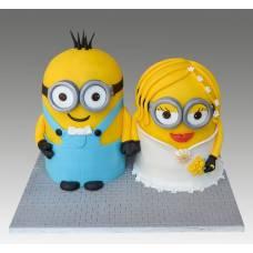Свадебный торт Миньоны