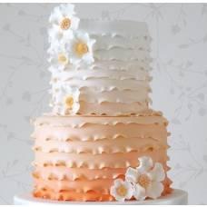 Свадебный торт Омбре абрикос