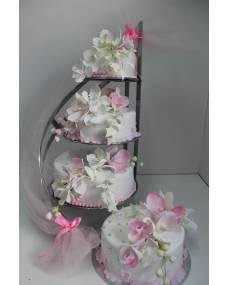 Свадебный торт Нежная орхидея