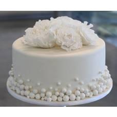 Свадебный торт Белый перламутр