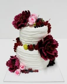 Свадебный торт Пионы марсала