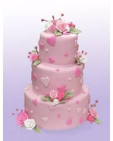 Свадебный торт Розовый сад