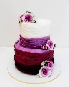 Свадебный торт Сливовый омбре