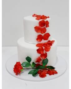 Свадебный торт Листья розы