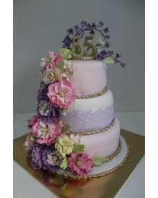 Свадебный торт Розовый рай