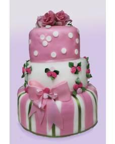 Свадебный торт Шебби-шик