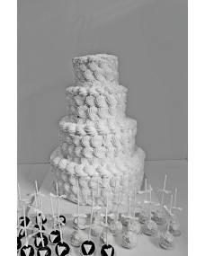 Свадебный торт Белоснежная фата