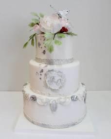 Свадебный торт Серебро2