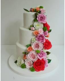 Свадебный торт Сахарные розы