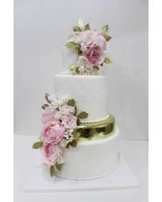 Свадебный торт Золотая мечта