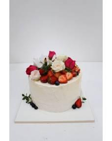 Свадебный торт Ягодки-цветочки