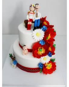 Свадебный торт Украинский колорит