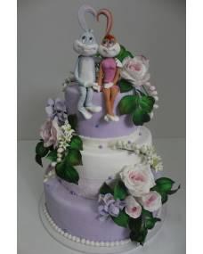 Свадебный торт Влюбленные зайчата