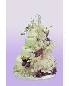 Свадебный торт Водопад орхидей