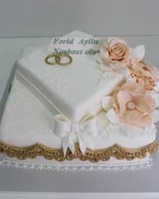 Свадебный торт Венчание сердец