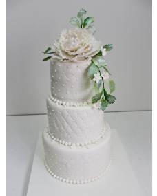 Свадебный торт Белый пион